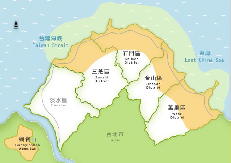 著名风景区如白沙湾,麟山鼻,富贵角公园,石门洞,金山,野柳,翡翠湾等呈